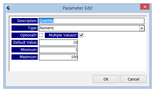 Parameters options